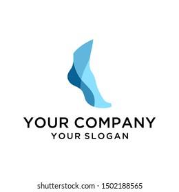 Modern creative foot ankle logo design vector for healthcare company