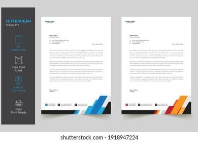Modern Creative Letterhead Design Template