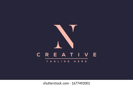 Modern creative N Logo Design and template. NN icon initial Based Monogram and Letters in vector.