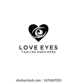 Modern Creative silhouette Eye Concept Logo Design Template.