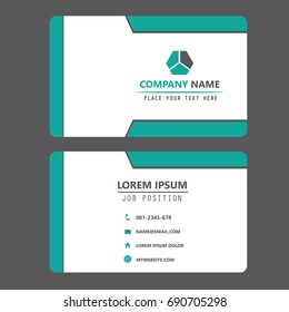 Modern Creative Template. Clean Business Card Design.Flat Vector Illustration