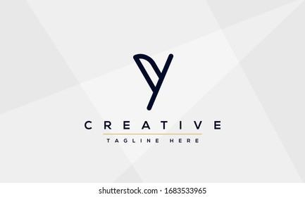 Modern creative Y Logo Design and template. Y YY icon initials based Monogram and Letters in vector.
