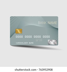 Modern credit card template design. With inspiration from the abstract. Vector illustration.Glossy plastic style.