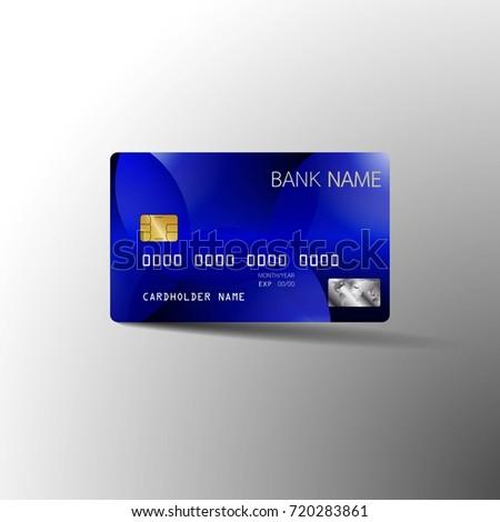 Modern Credit Card Template Design Vector Stock Vector Royalty Free