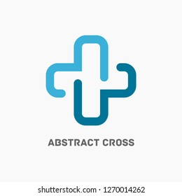 Modern cross logo. Health, medical icon template