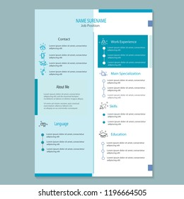 modern cv resume template vector