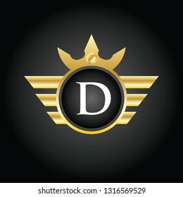 Modern D Circle Logo  Illustration, Vector.