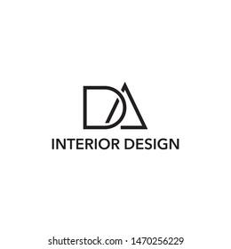 modern DA letter logo vector,simple DA letter