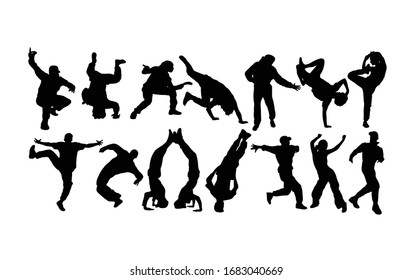 Modern dancer Activity Silhouettes, art vector design