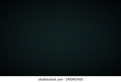 Modern dark black and blue geometric background with polygonal grid. Abstract black metallic hexagonal pattern. Simple vector illustration