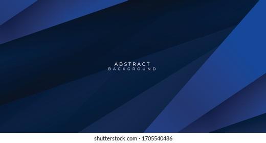 Modern dark blue paper background with dark 3d layered line triangle texture in elegant website or textured paper design