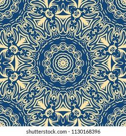 Modern Decorative Cicle Vector Shapes. Floral mandala. Vector colored illustration