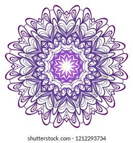 Modern Decorative floral color mandala. round Shapes. illustration