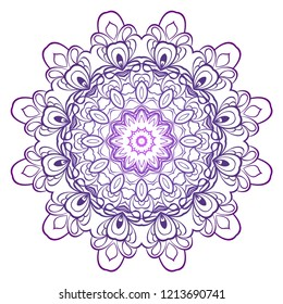 Modern Decorative floral color mandala. Super vector round Shapes. Vector illustration