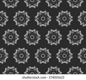 Modern decorative floral pattern. Luxury texture for wallpaper, invitation, decor, fabric. Vector illustration.