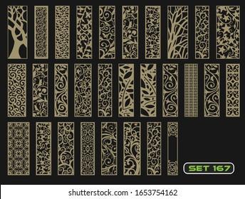 Modern decorative set 167 for laser cut