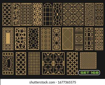 Modern decorative set 168 for laser cut
