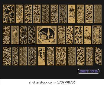 Modern decorative set 179 for laser cut