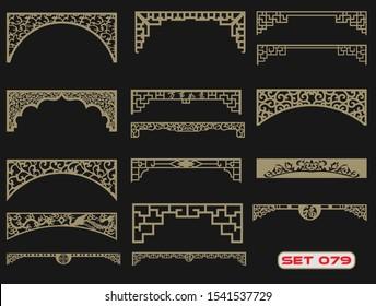 Modern decorative set 79 for laser cut