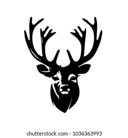 Modern Deer Head Illustration Logo