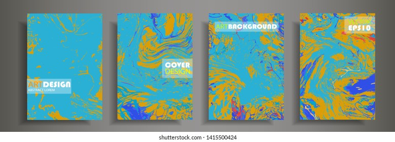 Modern design A4.Abstract marble texture of colored bright liquid paints.Splash trends paints.Used design presentations, print,flyer,business cards,invitations, calendars,sites, packaging,cover.