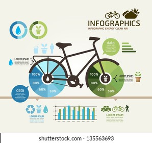 Modern Design bicycle template / can be used for infographics / numbered banners / horizontal cutout lines / graphic or website layout vector