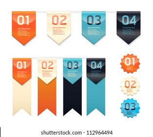 Modern   Design button  / can be used for infographics / numbered banners / horizontal cutout lines / graphic or website layout vector