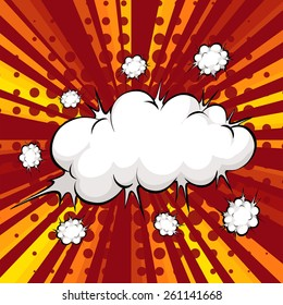 Modern design of cloud explosion with writing space