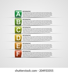 Modern design creative infographic with colorful labels. Vector illustration.