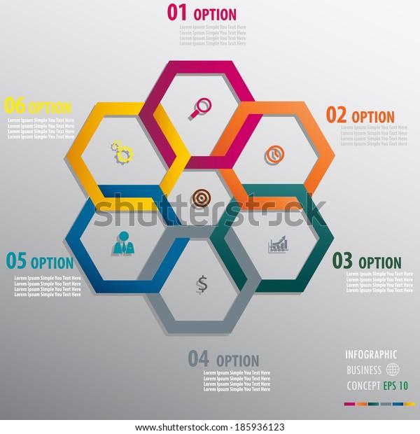 Modern Design info graphics template