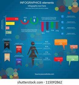 Modern Design infographics template. Vector