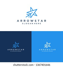 modern design logos or stars with arrowheads