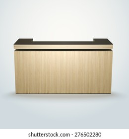 modern design office reception or bar counter, made of separate planks easy to edit