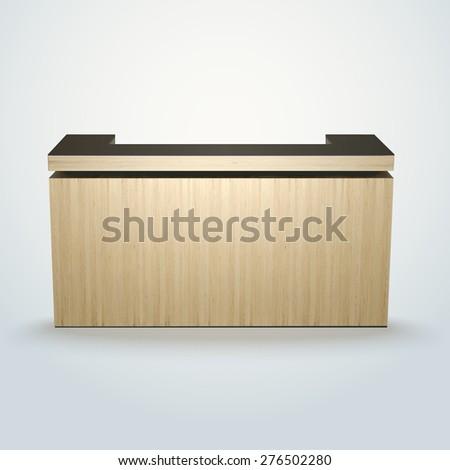 Modern Design Office Reception Bar Counter Stock Vector Royalty