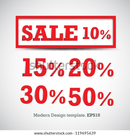 modern design sale tag template your stock vector royalty free