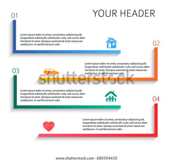 Modern Design Style Infographic Template Illustration เวก