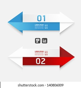 Modern Design template arrow style/ can be used for infographics / numbered banners / horizontal cutout lines / graphic or website layout vector