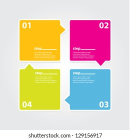 Modern Design template / can be used for infographics / numbered banners / horizontal cutout lines / graphic or website layout vector