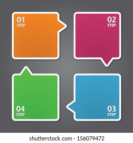 Modern Design template / can be used for infographics / numbered banners / graphic or website layout vector