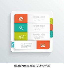 Modern Design template. Can be used for infographics, numbered banners, graphic or website layout, vector.