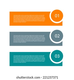 Modern design template. Can be used as infographics / numbered banners / workflow diagram