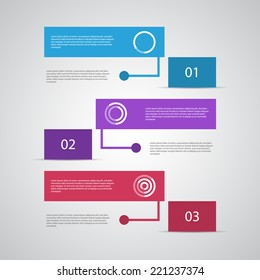 Modern design template. Can be used as infographics / numbered banners / workflow diagram.