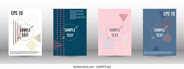 Modern design template. Creative fluid backgrounds with memphis elements to create a fashionable abstract cover, banner, poster, booklet. Vector illustration. EPS 10.