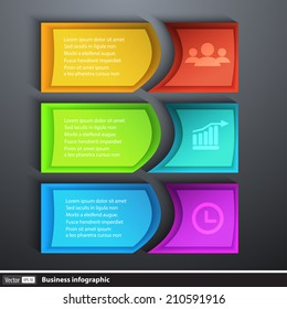 Modern design template infographics for business with text