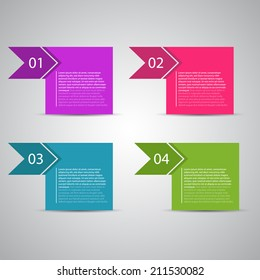 Modern design template / numbered banners for tutorial and advertising.
