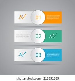Modern design template / numbered banners