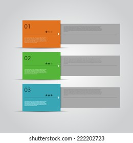 Modern Design template / numbered banners.