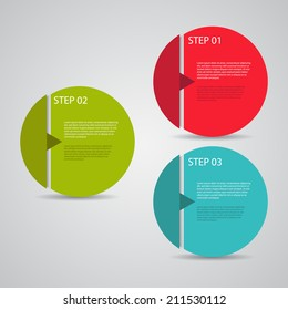 Modern design template / numbered circles / tutorial steps.