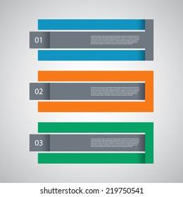 Modern Design Template / procedure steps / tutorial banners.