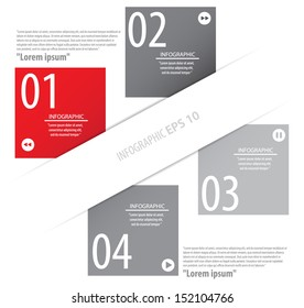Modern Design template used for infographics numbered banners